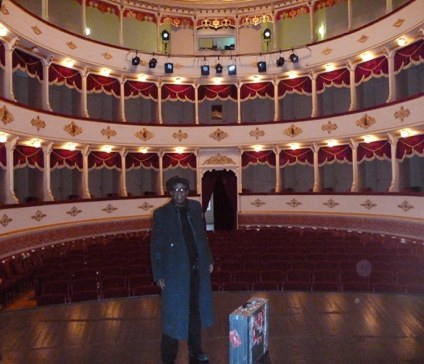 Wes at The Croatian National Theater wherer he performed with Blues Train